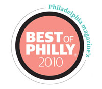 Badge for Philadelphia Magazine's Best of Philly 2010 Award